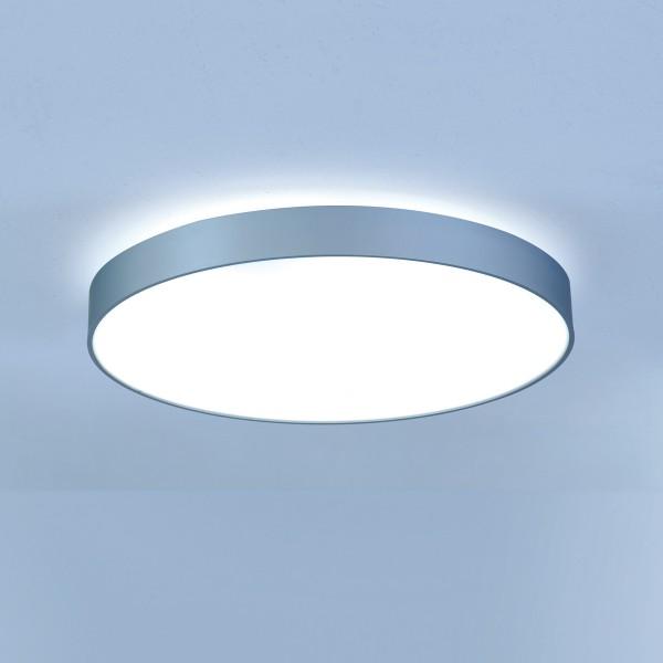 Lightnet Basic-X1 Wand- / Deckenleuchte, Opal, Silber matt