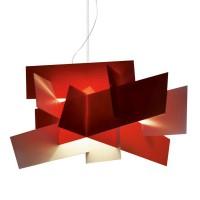 Big Bang XL LED Sospensione, rosso (rot)