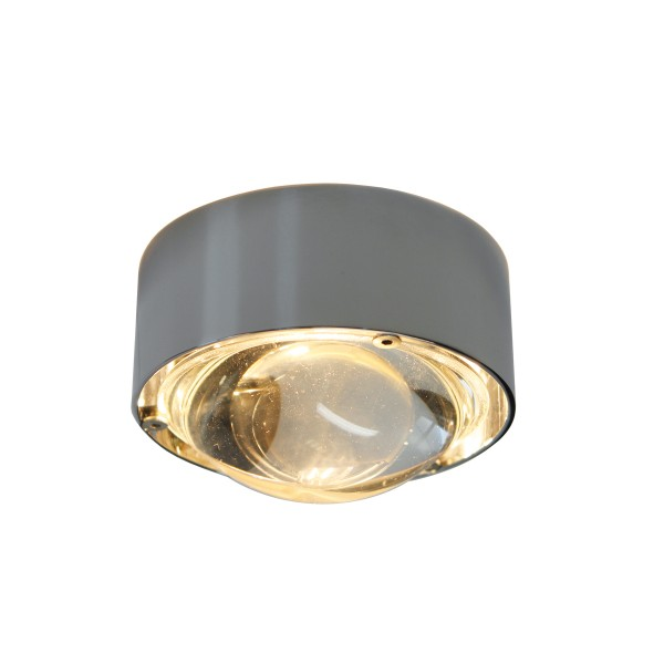 Top Light Puk One LED Deckenleuchte, Chrom, Linse klar