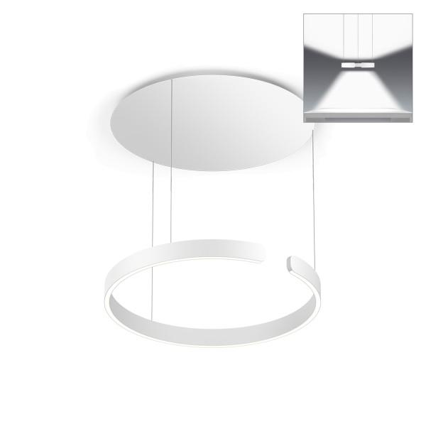 Occhio Mito sospeso 60 up wide Pendelleuchte, weiß matt, Lichtausstrahlung: direkt und indirekt breit abstrahlendes Licht