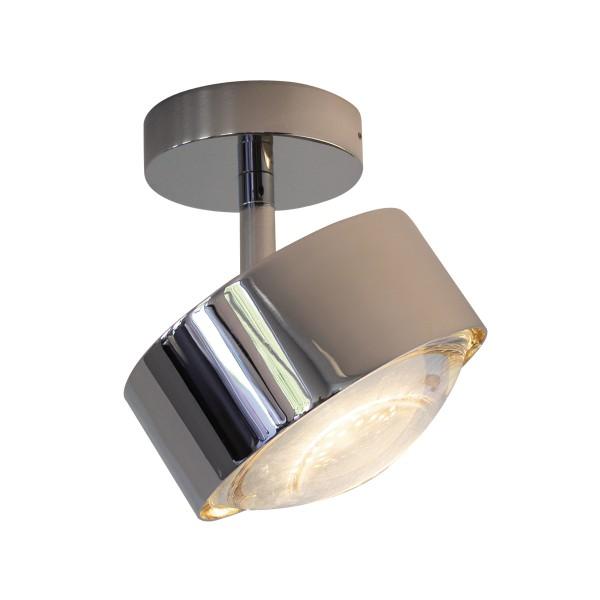 Top Light Puk Maxx Turn LED Up & Down Deckenleuchte, Chrom, Linse klar