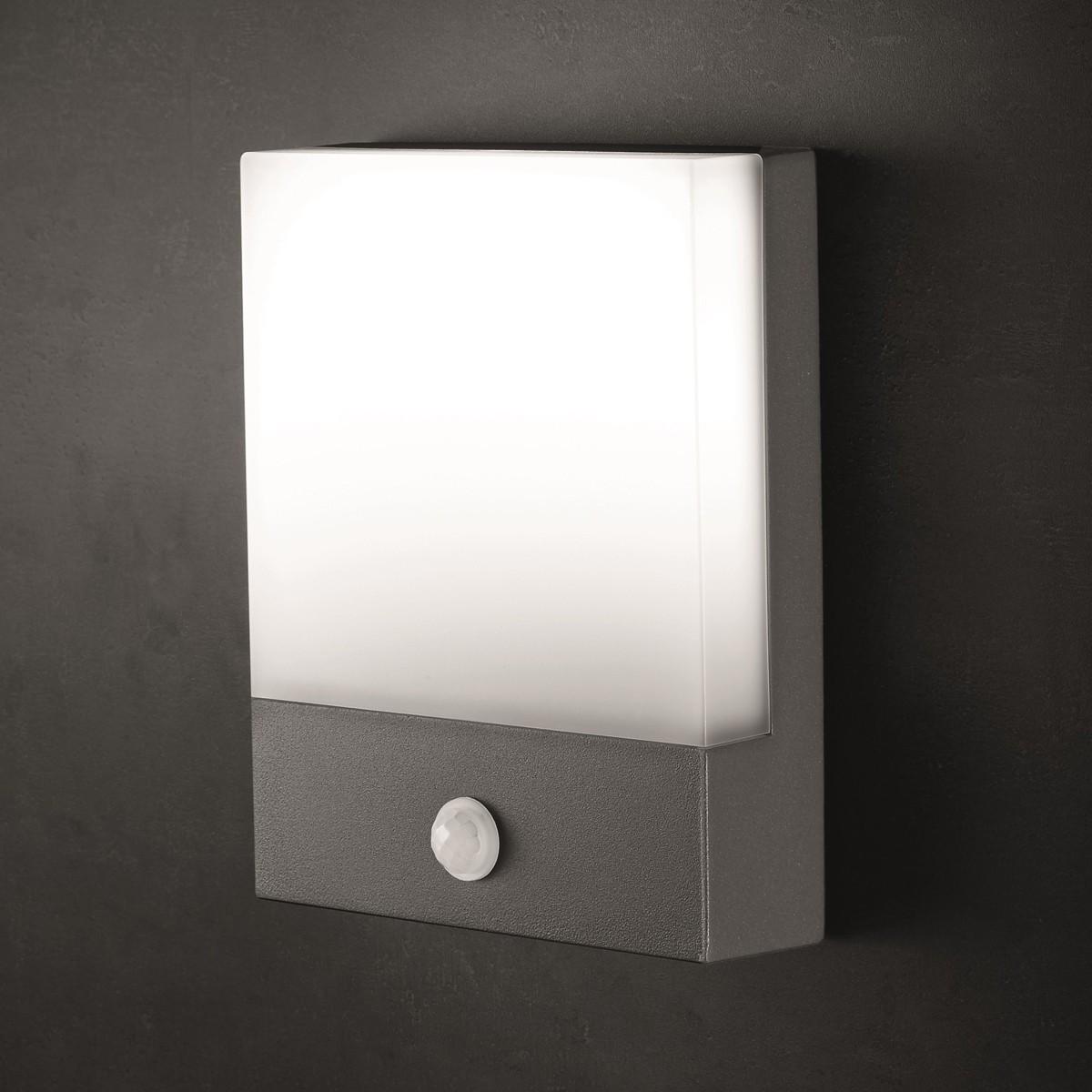Lupia Licht Pad Außenwandleuchte, mit Sensor, anthrazit