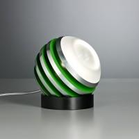 Bulo Tischleuchte, Aluminium / grün