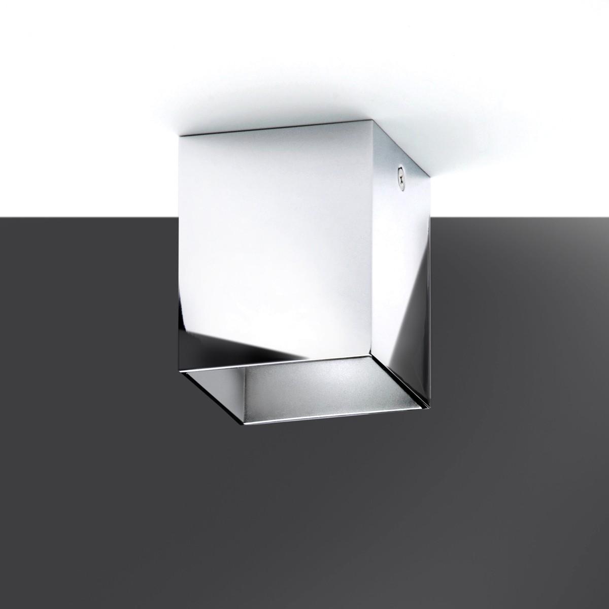 Milan Mini Dau LED Deckenleuchte, hochglänzend verchromt