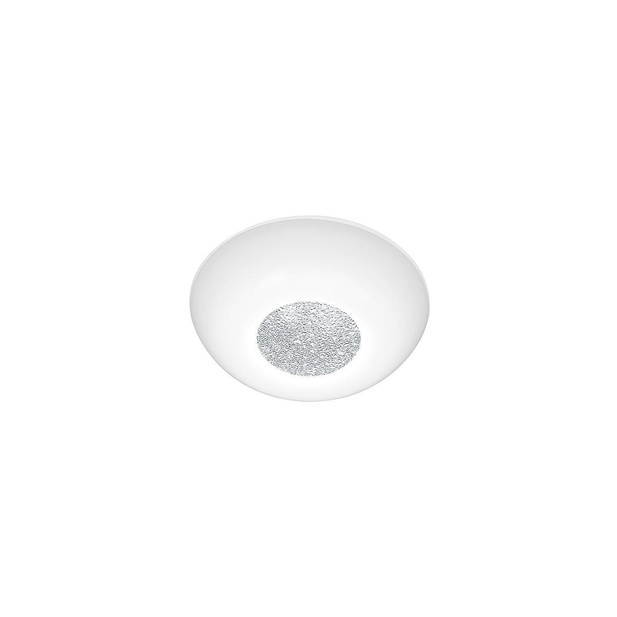 Bankamp Mars Deckenleuchte, Ø: 26 cm, Glas opalweiß