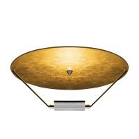 Disco Deckenleuchte, Scheibe: Gold, Halterung: Nickel