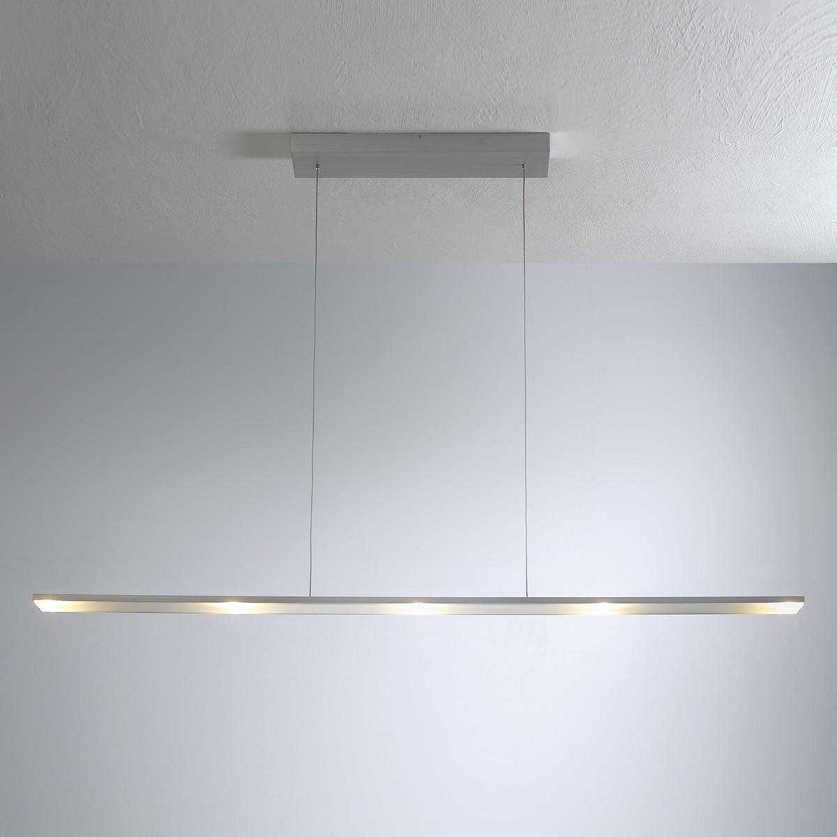 Bopp LEDs Go Pendelleuchte 5-flg., Aluminium geschliffen, extern dimmbar