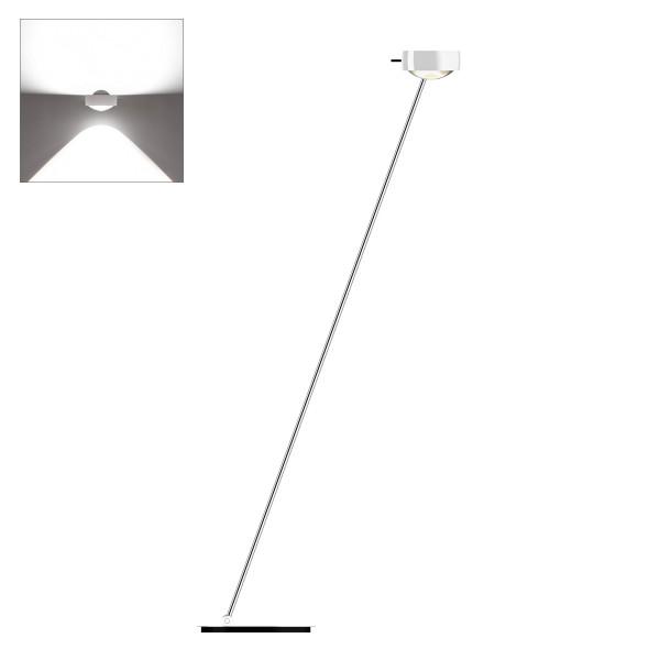 Occhio Sento E LED lettura, 160 cm, Chrom / weiß glänzend