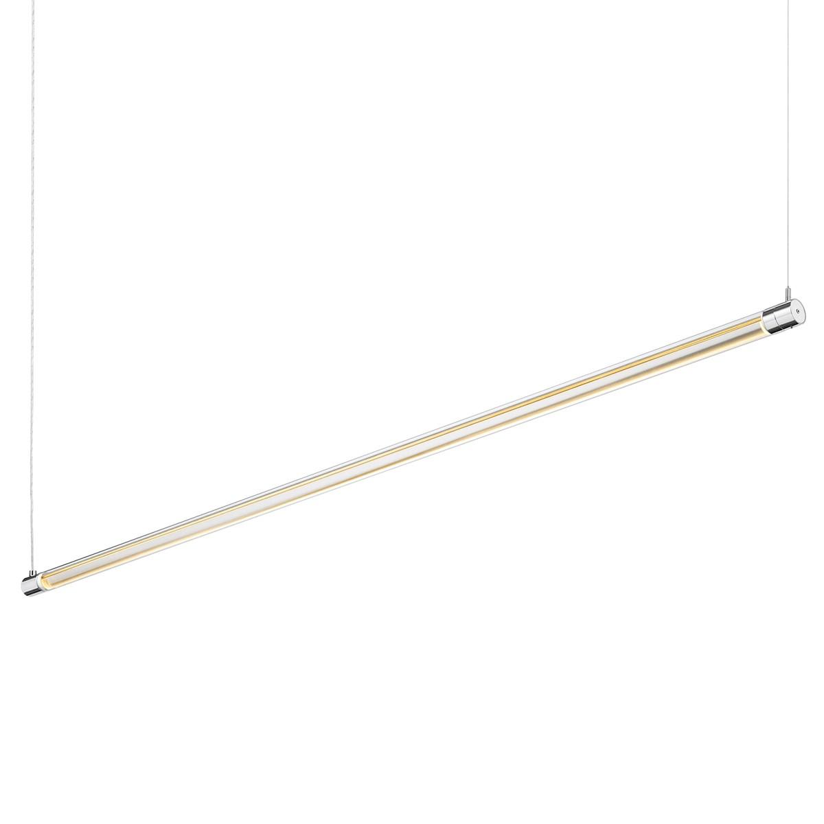 Bruck Tubus Down Pendelleuchte, Länge: 154,2 cm, Chrom