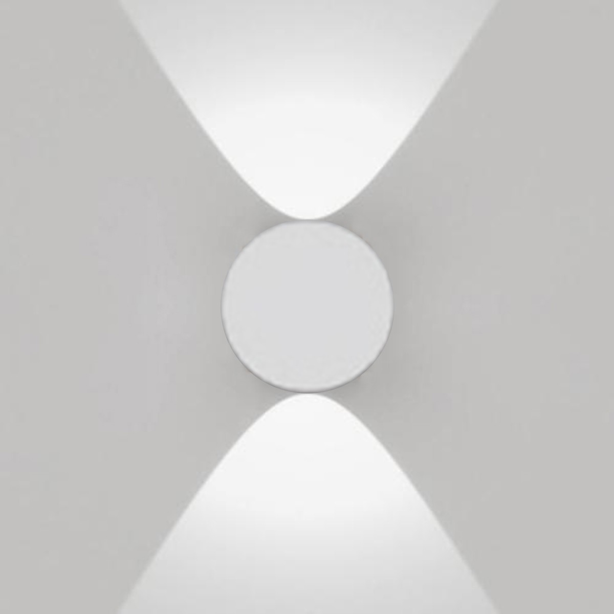 Artemide Outdoor Effetto 16R Wandleuchte 2L, 2 x 40°, hellgrau, 3000° K