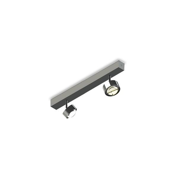 Top Light Puk Choice Turn Deckenleuchte, 35 cm, Chrom, Einsätze: Linsen klar