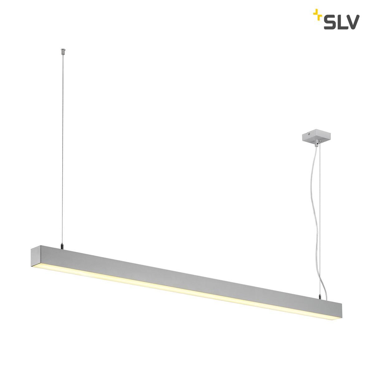 SLV Q-Line Single Pendelleuchte, silbergrau