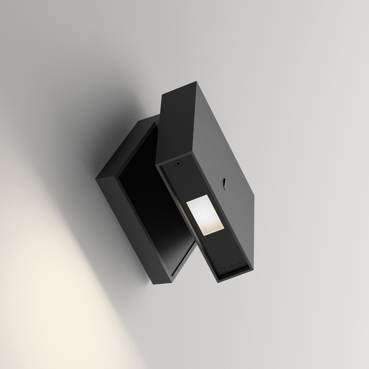 Vibia Alpha 7940 Wandleuchte, anthrazitgrau matt / schwarz