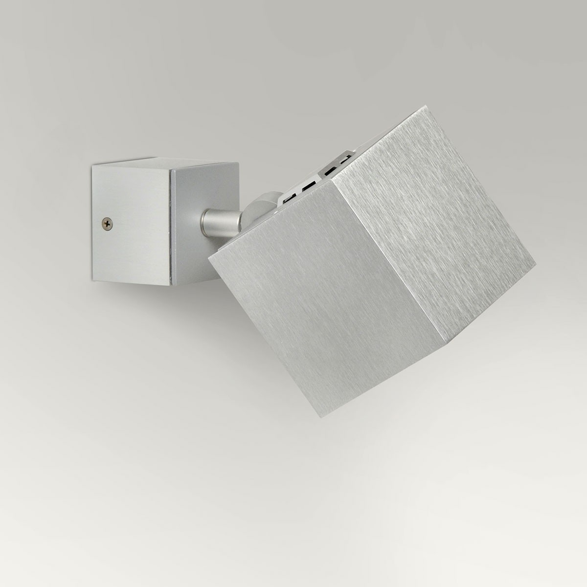 Milan Dau Spot LED Wandstrahler, Aluminium gebürstet