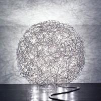 Fil de Fer Bodenleuchte, Ø: 40 cm, Aluminium, dimmbar