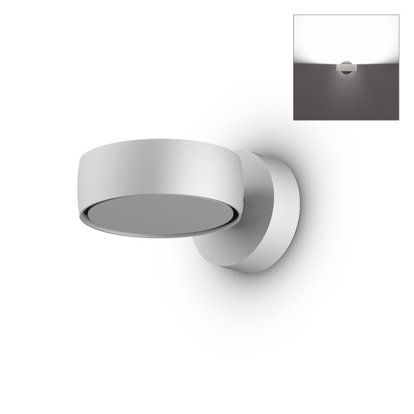 Occhio Sento B LED verticale up Wandleuchte, Chrom matt