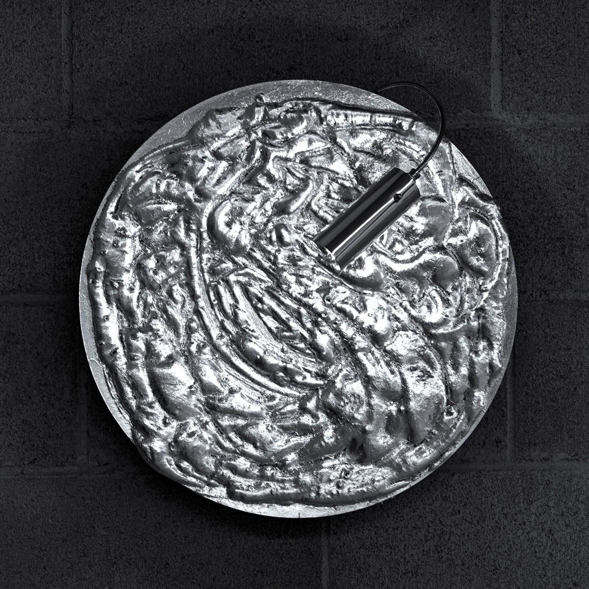 Catellani & Smith Stchu-Moon 06 Wandleuchte, Ø: 50 cm, schwarz / Silber
