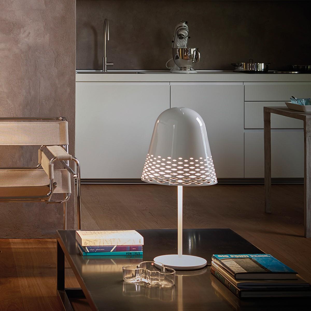 Rotaliana Capri T1 Tischleuchte, weiß glänzend