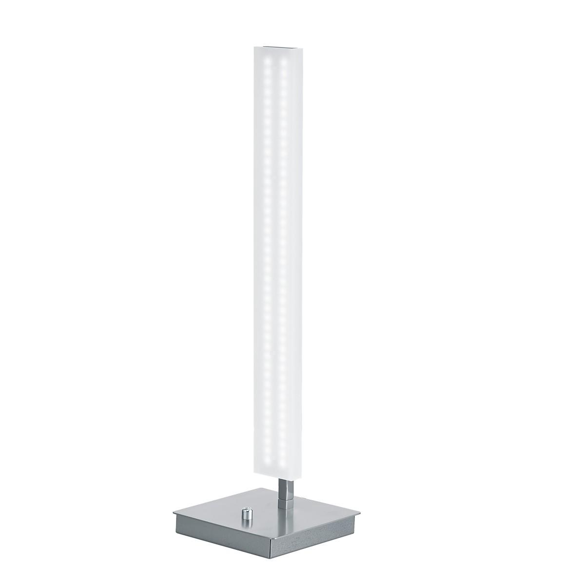Bankamp Straight Line Tischleuchte, Nickel matt / Chrom