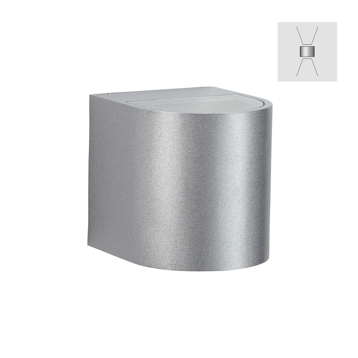 Albert 2402 Wandstrahler, breit/breit, Silber