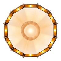 Mysterio Parete / Soffitto, bianco/rame (weiß/Kupfer)