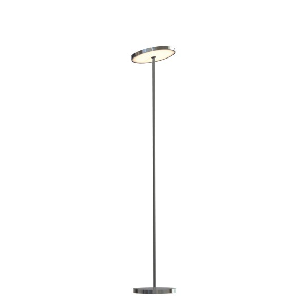 Top Light Sun Floor Down Light 100 Stehleuchte, Ø: 13 cm, Chrom