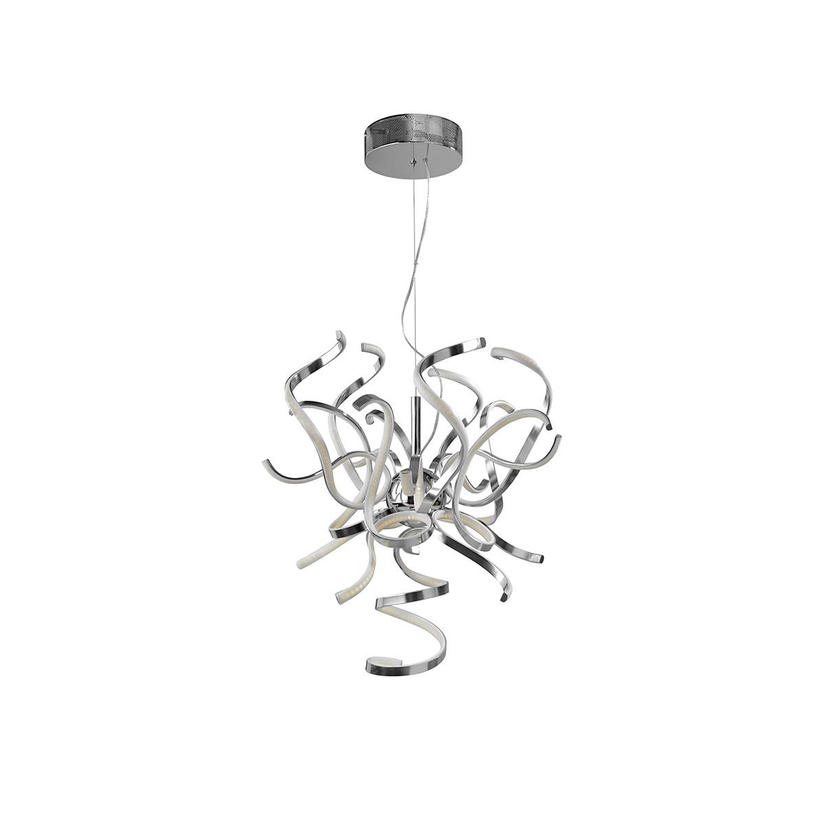 Sompex Weed LED Pendelleuchte, Ø: 60 cm, Aluminium