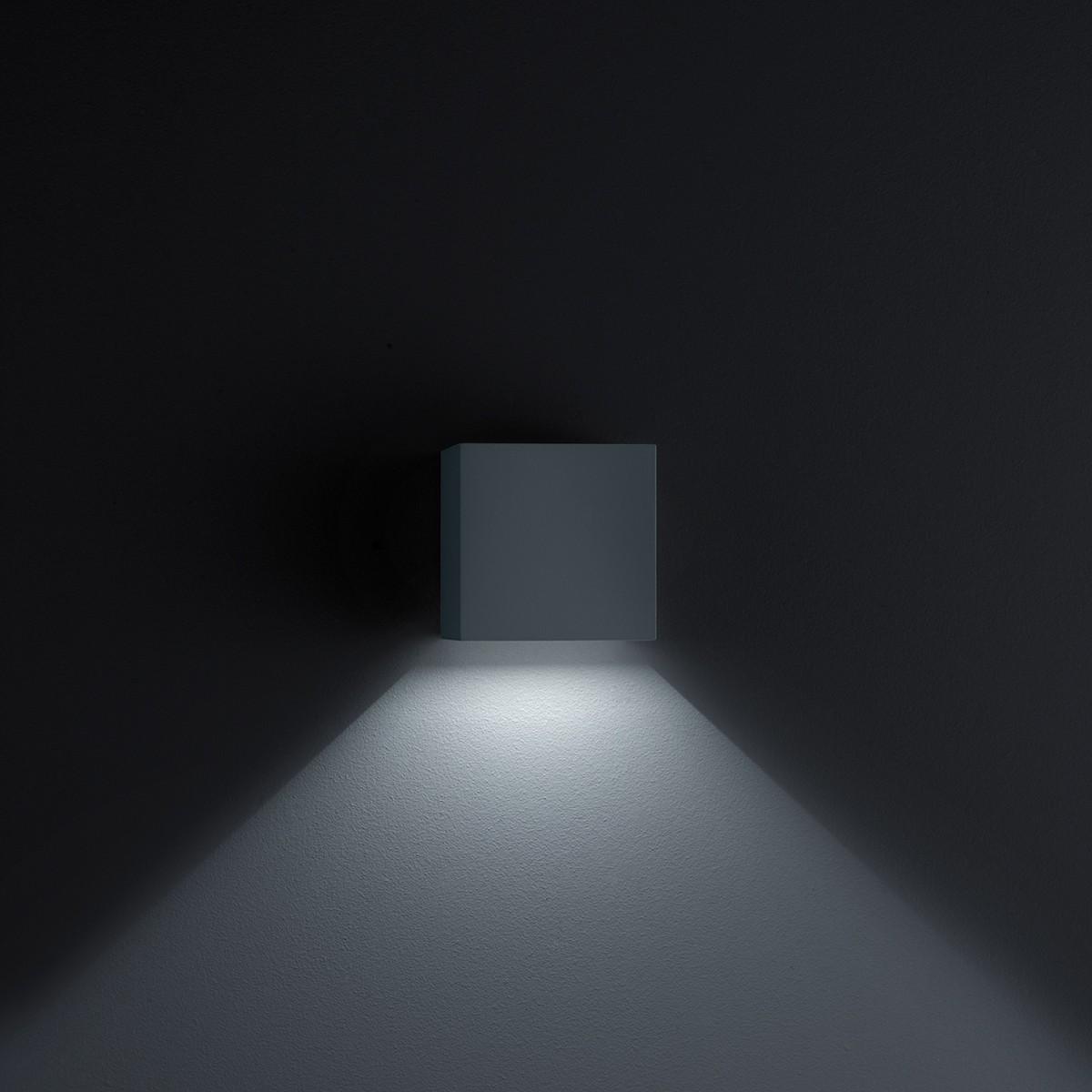 Helestra Siri 44 LED Außenwandleuchte, schwarz matt