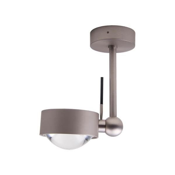 Top Light Puk Side Single LED, 10 cm, Nickel matt, Glas satiniert / Linse klar