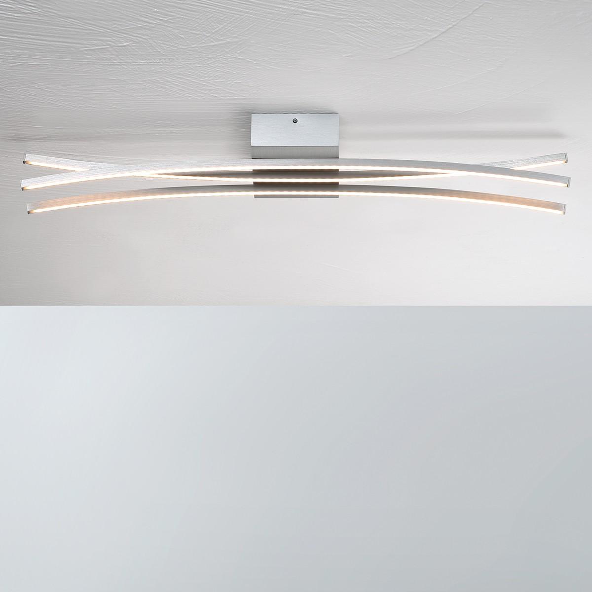Bopp Convex LED Deckenleuchte 3-flg., Aluminium geschliffen
