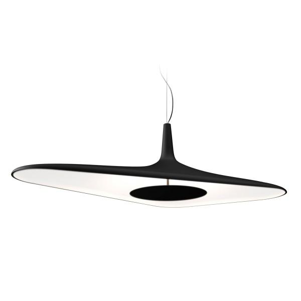 Luceplan Soleil Noir Sospensione, schwarz/weiß
