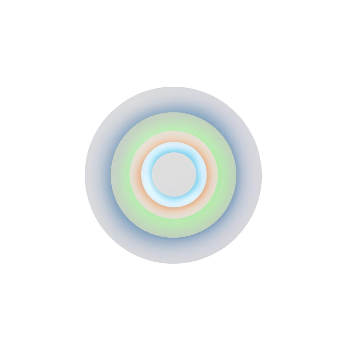 Marset Concentric S LED Wandleuchte, Minor (blau/braun/mint)