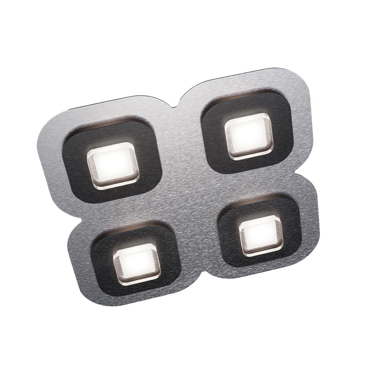 Grossmann Ap LED Deckenleuchte, 4-flg., quadratisch 75-821-068