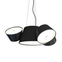 Tam Tam Mini Pendelleuchte, Zentralschirm: schwarz, Schirme: schwarz