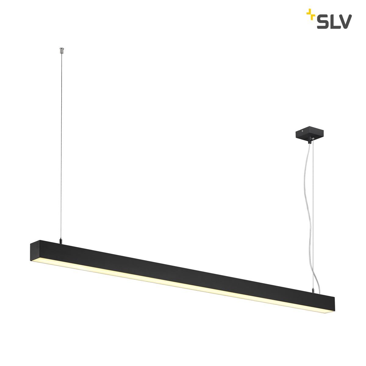 SLV Q-Line Single Pendelleuchte, schwarz