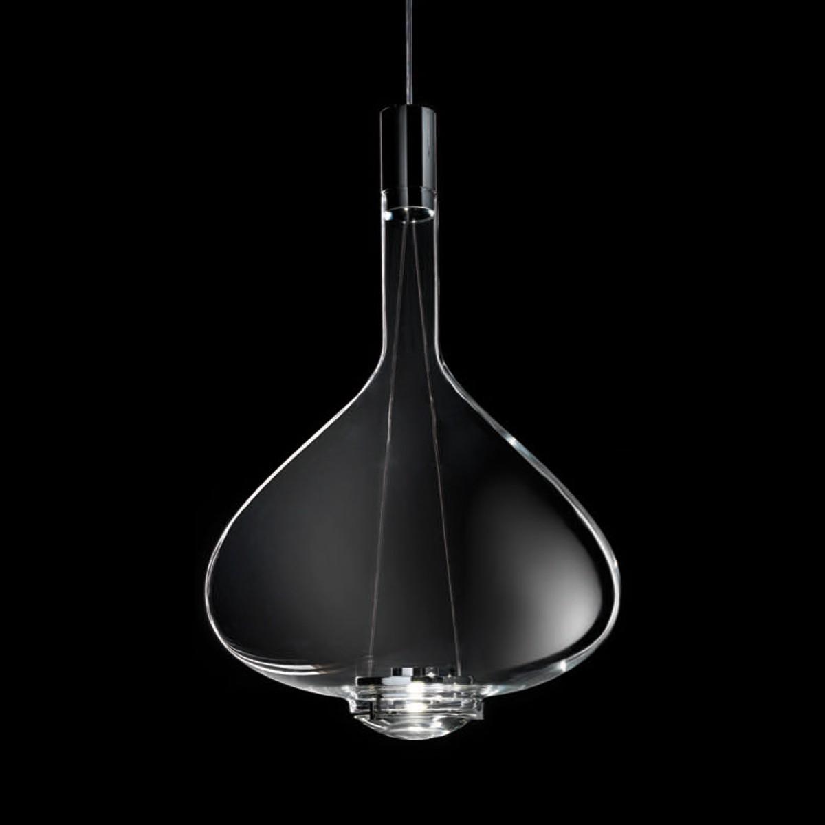 Studio Italia Design Sky-Fall Large Pendelleuchte, Chrom / Kristallglas