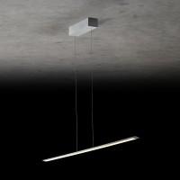 Holtkötter Epsilon RR LED Pendelleuchte, Länge: 123 cm, Silber matt
