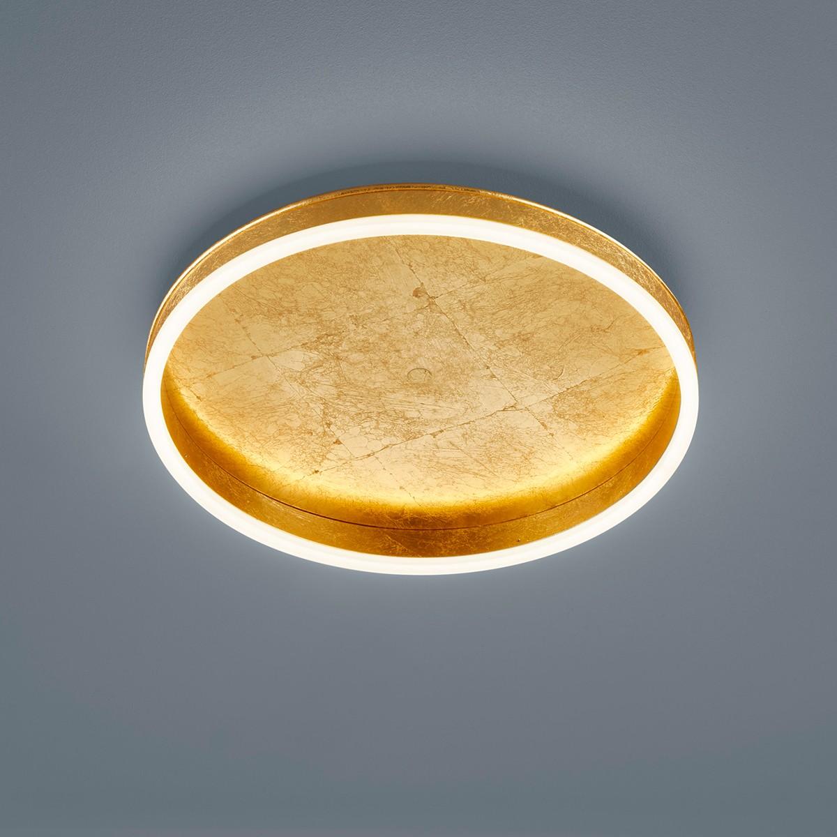Helestra Sona Deckenleuchte, Ø: 40 cm, Blattgold