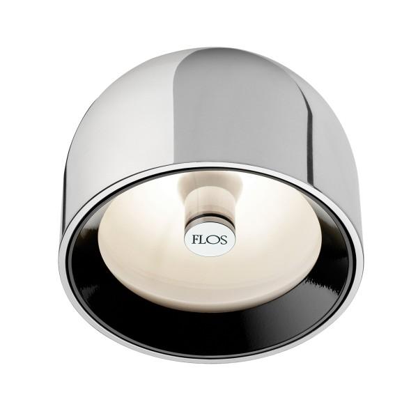 Flos Wan C Deckenleuchte, Aluminium, schwarzer Ring