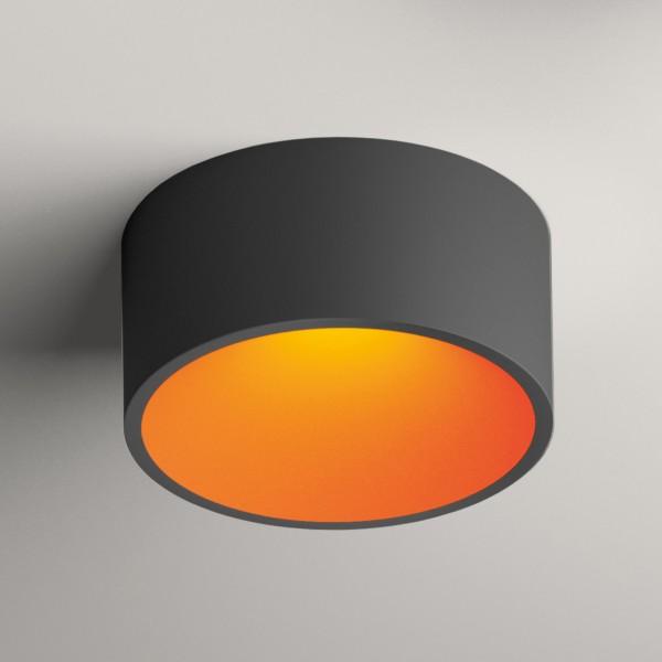 Vibia Domo 8210 Deckenleuchte, graphitgrau matt, innen: orange matt