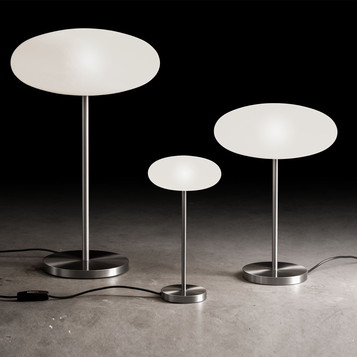 Holtkötter Leuchten Amor T Tischleuchte LED, Höhe: 69 cm, Nickel matt