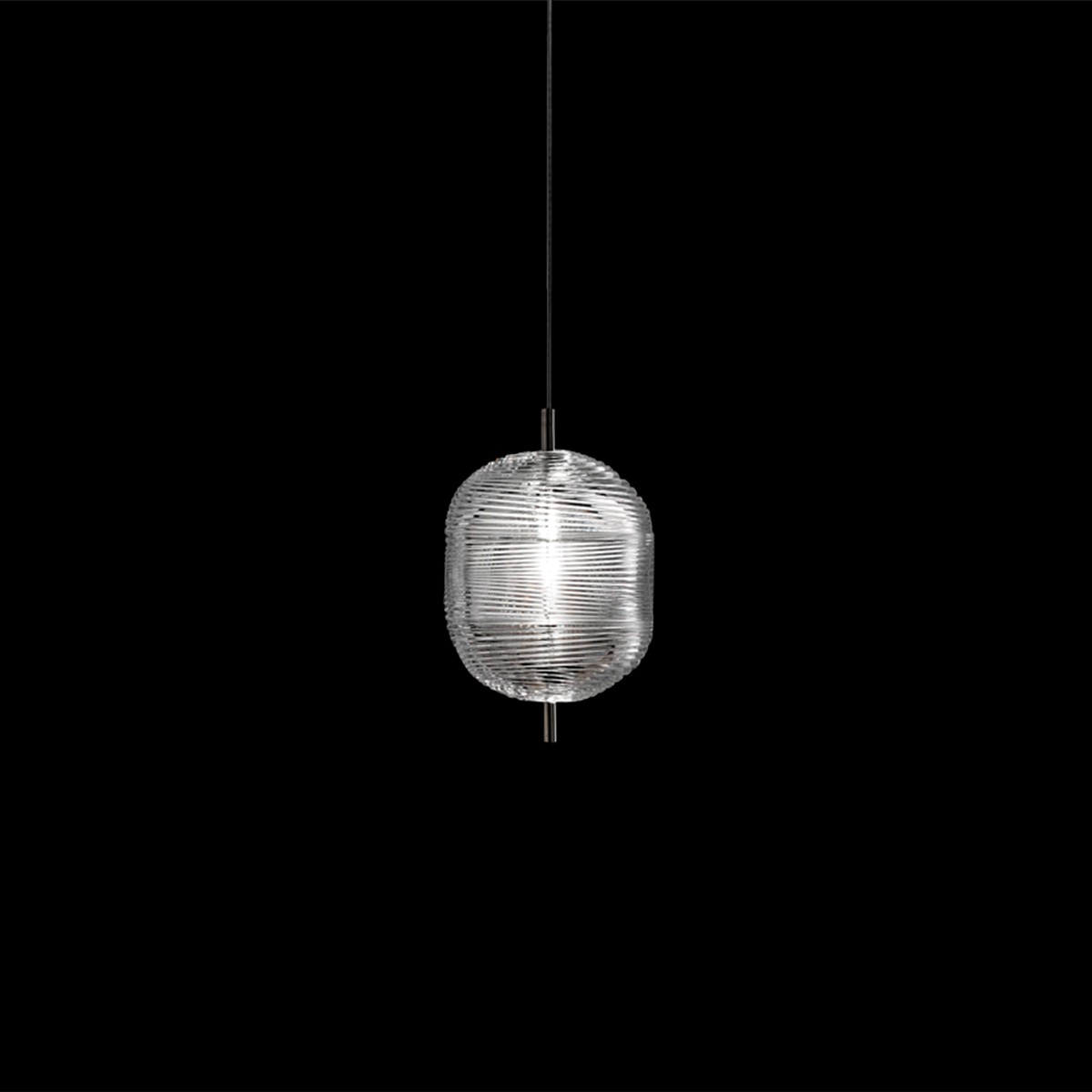 Studio Italia Design Jefferson Small LED Pendelleuchte, Chrom schwarz - Kristallglas