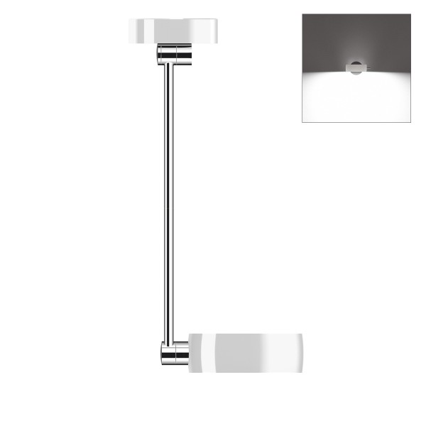 Occhio Sento B LED soffitto singolo up, 60 cm, Chrom / weiß glänzend