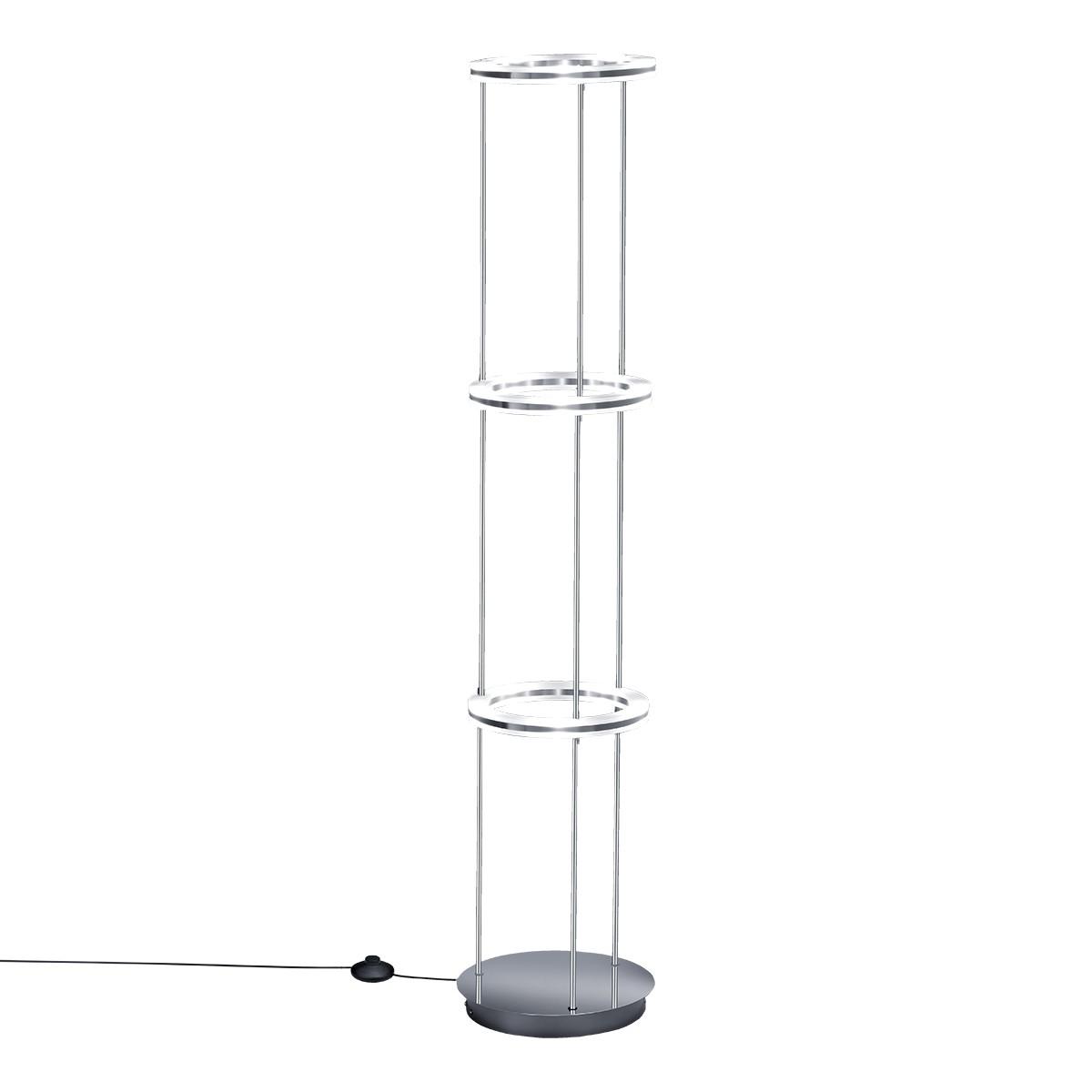 B-Leuchten Mica LED Stehleuchte, Nickel matt / Chrom