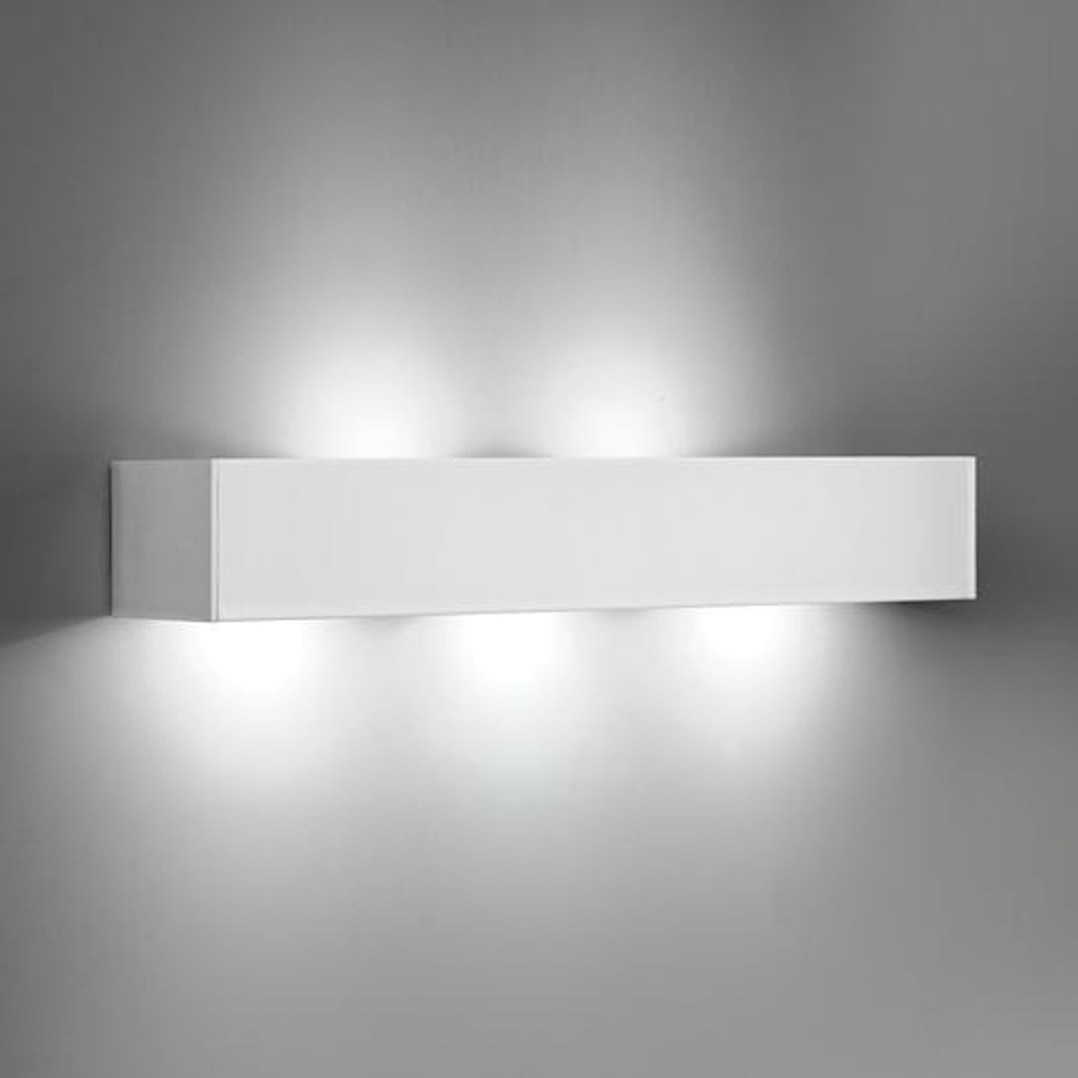 Milan T-LED Wandleuchte, 5-flg., weiß lackiert