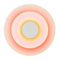 Concentric L Wandleuchte, Major (braun/rosa/orangerot)