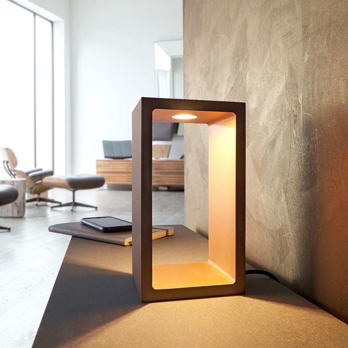 MyLight Corridor LED Tischleuchte, braun / Gold
