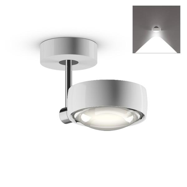 Occhio Sento C LED faro up, 10 cm, Chrom / weiß glänzend