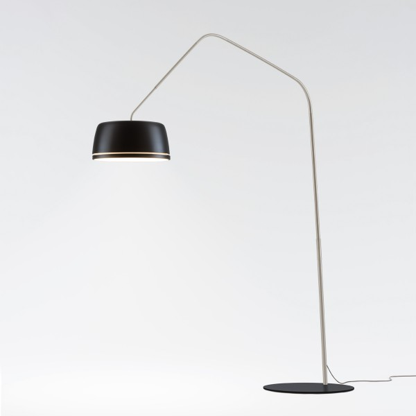 Serien.lighting Central Floor, schwarz
