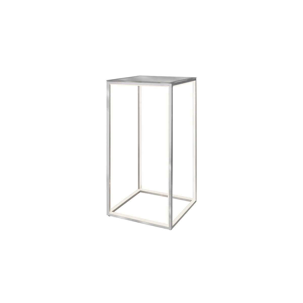 Sompex Delux LED Stehleuchte 60 x 30 cm, Aluminium, Glas: gefrostet